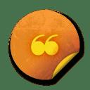Orange sticker badges 002 icon