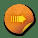 Orange sticker badges 018 icon