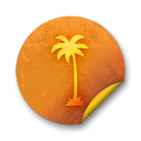 Orange sticker badges 033 icon