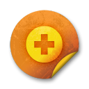 Orange sticker badges 038 icon