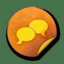 Orange sticker badges 041 icon