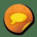 Orange sticker badges 042 icon