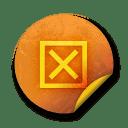 Orange sticker badges 045 icon