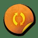 Orange sticker badges 054 icon