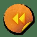 Orange sticker badges 057 icon