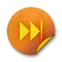 Orange sticker badges 058 icon