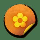 Orange sticker badges 063 icon