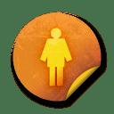 Orange sticker badges 065 icon