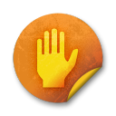 Orange sticker badges 070 icon