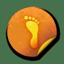 Orange sticker badges 071 icon