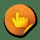 Orange sticker badges 072 icon