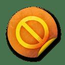 Orange sticker badges 080 icon