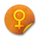 Orange sticker badges 082 icon