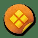 Orange sticker badges 089 icon