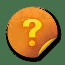 Orange sticker badges 090 icon