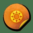 Orange sticker badges 097 icon
