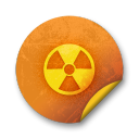 Orange sticker badges 104 icon