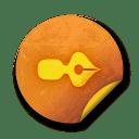 Orange sticker badges 106 icon