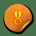 Orange sticker badges 139 icon