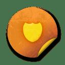 Orange sticker badges 164 icon