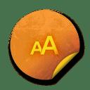 Orange sticker badges 173 icon