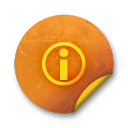 Orange sticker badges 176 icon
