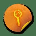 Orange sticker badges 184 icon