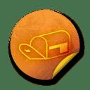 Orange sticker badges 297 icon