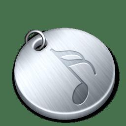 Shiny music icon