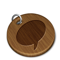 Woody messenger icon
