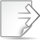 Actions document export icon