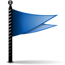 Actions flag blue icon
