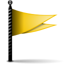 Actions flag yellow icon