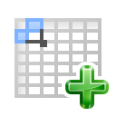 Actions insert table icon