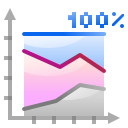 Actions office chart area percentage icon