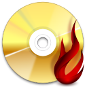 Actions tools media optical burn icon