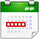 Actions view calendar workweek icon