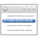 Actions view media playlist icon