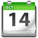 Actions view pim calendar icon