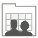 Actions view process users icon