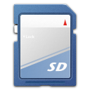 Devices media flash sd mmc icon