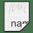 Mimetypes text x authors icon