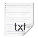 Mimetypes text x nfo icon