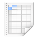 Mimetypes-x-office-spreadsheet icon