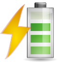 Status battery charging 080 icon