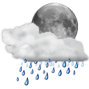 Status weather showers night icon