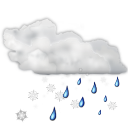 Status weather snow rain icon
