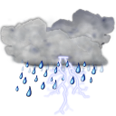 Status weather storm icon