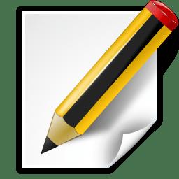 Actions document edit icon
