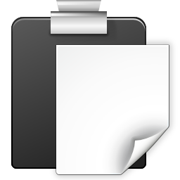 Actions edit paste icon